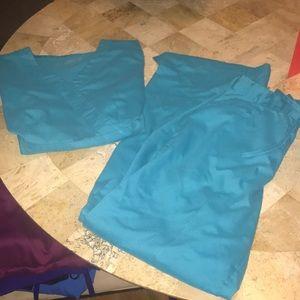 Turquoise greys anatomy scrub set